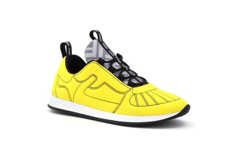 Fendi Roma Amour Capsule Collection Sneaker Yellow Black