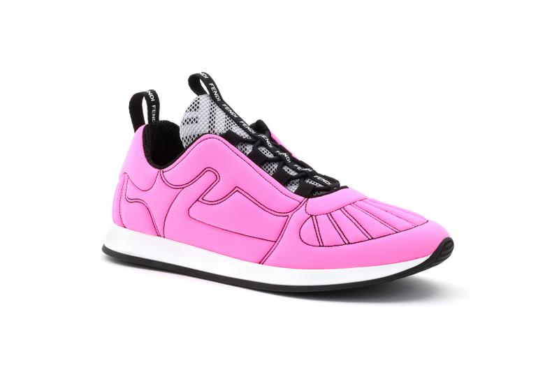 Fendi Roma Amour Capsule Collection Sneaker Pink Black