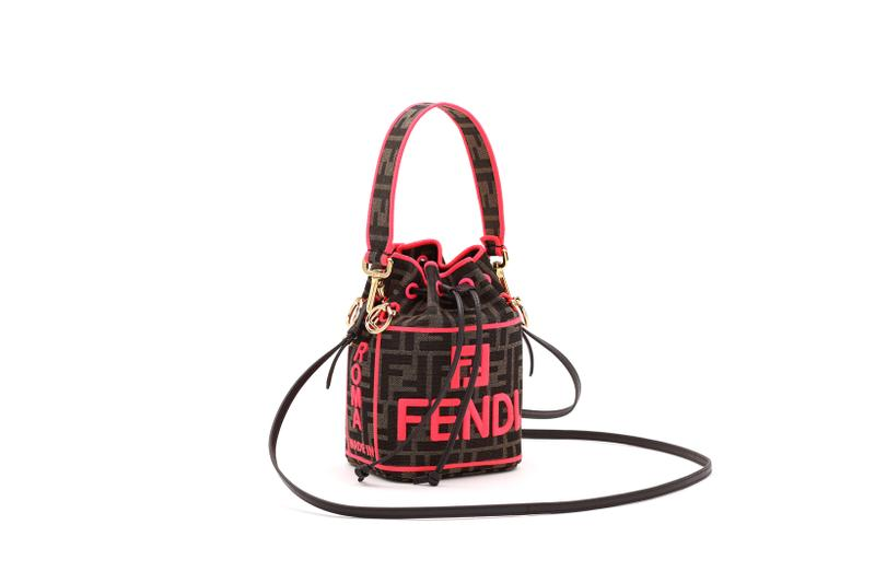 Fendi Roma Amour Capsule Collection Bucket Bag Brown Red