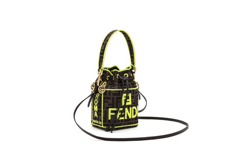 Fendi Roma Amour Capsule Collection Bucket Bag Brown Yellow