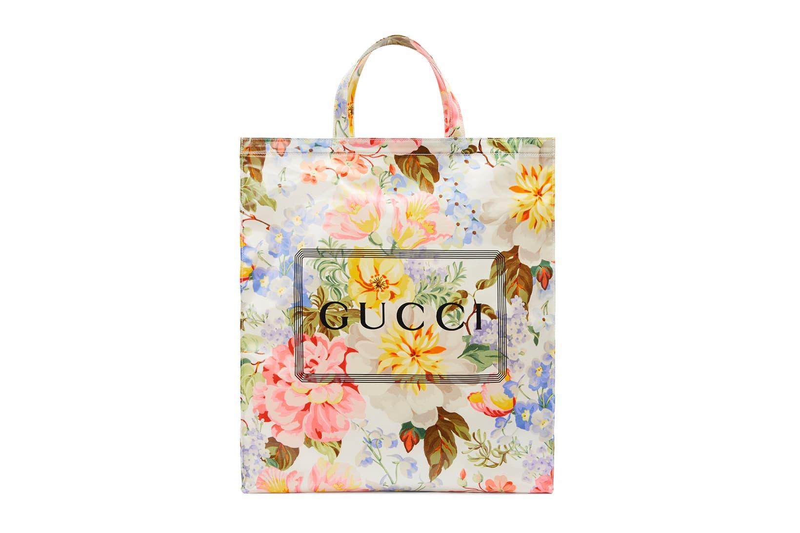 Gucci Shopper Tote Bags Floral & Check Pattern   HYPEBAE