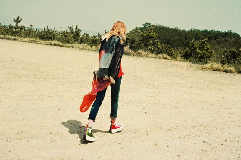 JW Anderson  Converse Glitter Chuck 70 Run Star Hike Collaboration Editorial Ahreum Ahn Model