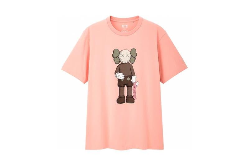 KAWS x Uniqlo UT Companion BFF Collaboration Summer 2019 Pocket T-shirt Pink