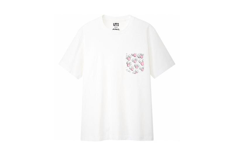 KAWS x Uniqlo UT Companion BFF Collaboration Summer 2019 Pocket T-shirt White