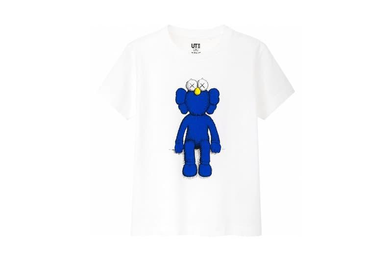 KAWS x Uniqlo UT Companion BFF Collaboration Summer 2019 Pocket T-shirt White Blue