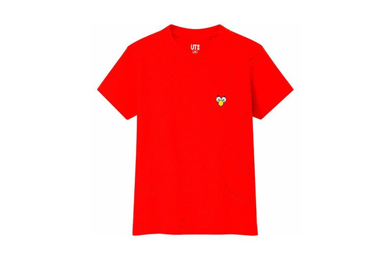 KAWS x Uniqlo UT Companion BFF Collaboration Summer 2019 Pocket T-shirt Red