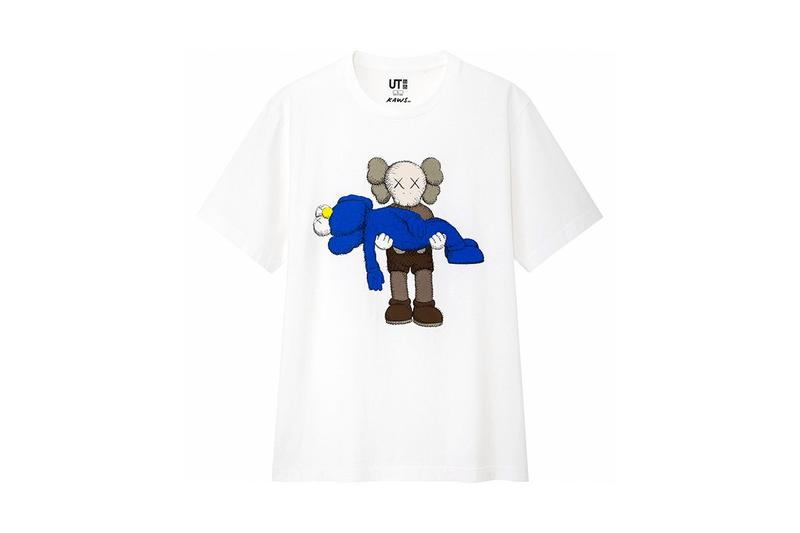 KAWS x Uniqlo UT Companion BFF Collaboration Summer 2019 Pocket T-shirt White Blue