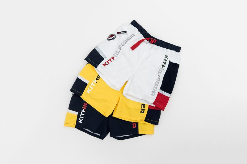KITH x Tommy Hilifiger Capsule Collection Shorts White Yellow Blue