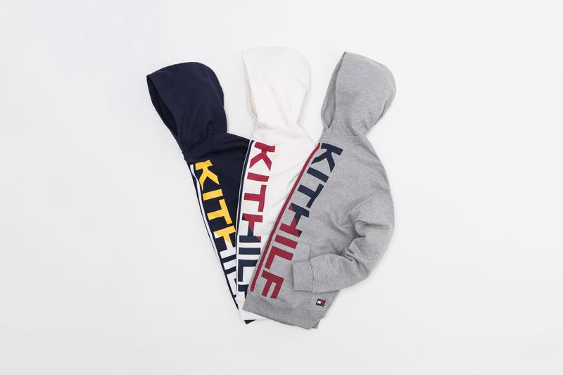 KITH x Tommy Hilifiger Capsule Collection Hoodies Grey Blue White