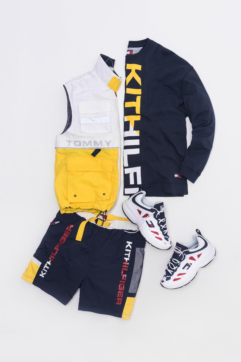KITH x Tommy Hilifiger Capsule Collection Vest White Yellow Shirt Shorts Bue