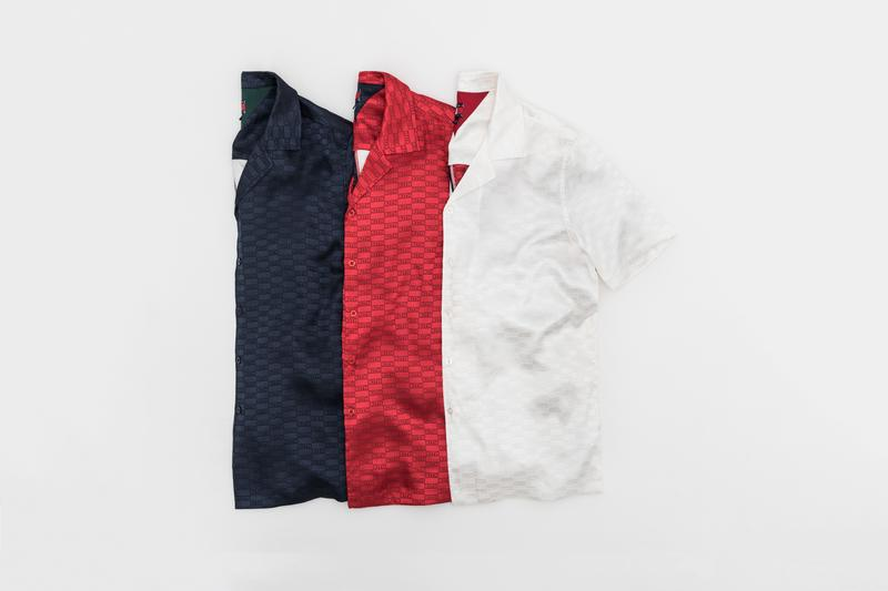 KITH x Tommy Hilifiger Capsule Collection Silk Shirts Blue Red White