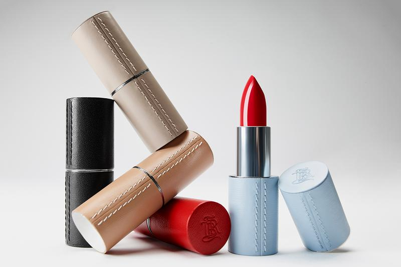 La Bouche Rouge Paris Beauty Makeup Lipsticks Brand Sustainable Sustainability Leather Case Red Beige Blue Red Black