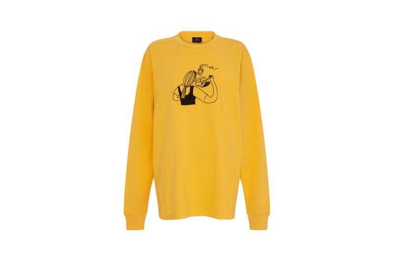 Lazy Oaf Mental Health Awareness Collection Sweatshirt Yellow
