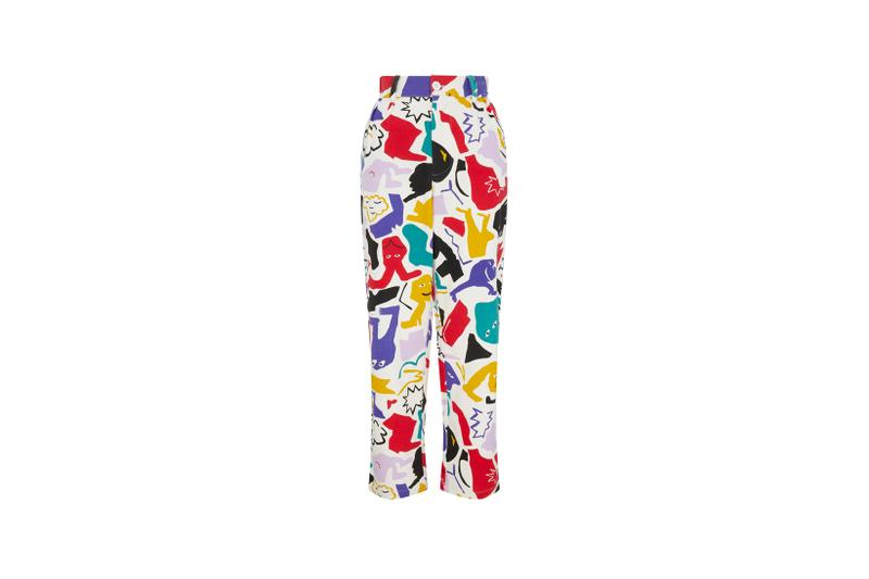 Lazy Oaf Mental Health Awareness Collection Patterned Pants Red Yellow