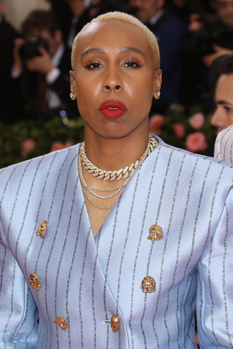 Lena Waithe 2019 Met Gala Camp Notes on Fashion Pyer Moss Suit Blazer Blue