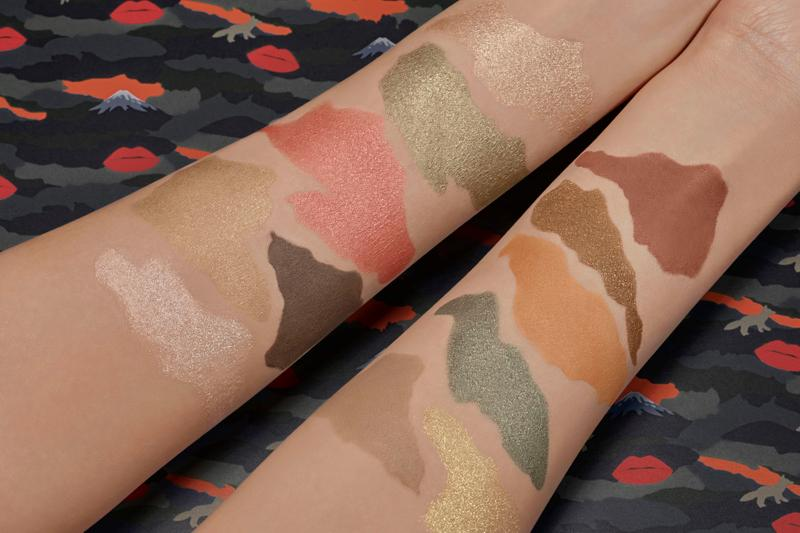 Maison Kitsune x Shu Uemura Makeup Collaboration Release Eyeshadow Palette Lipstick Lipgloss Beauty Swatches