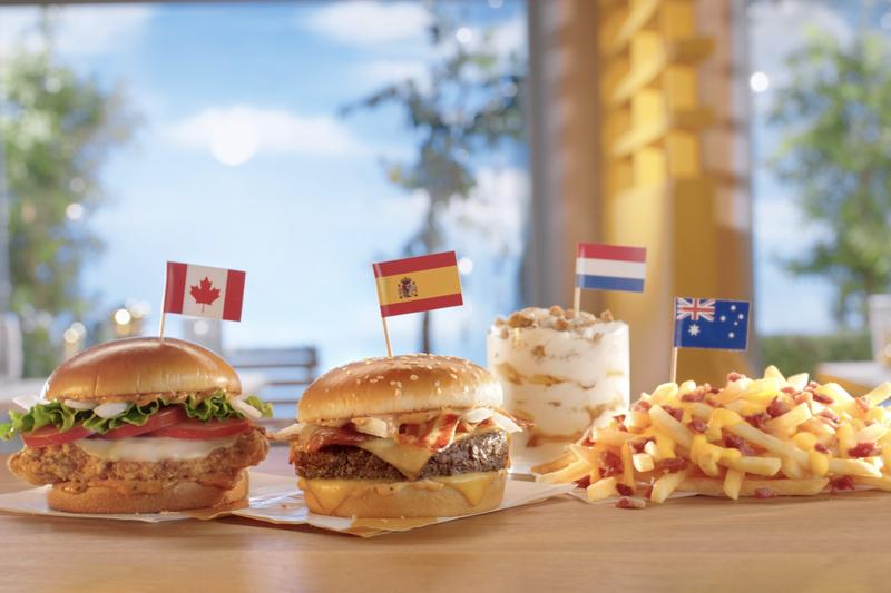 McDonald's Launches International Menu Items Stroopwafel McFlurry Burger Bacon Fries Fast Food