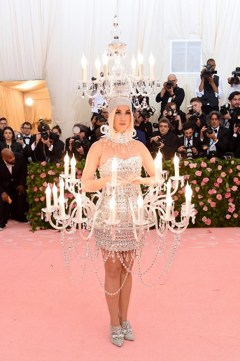 Katy Perry Chandelier Met Gala 2019 Red Carpet Camp Notes on Fashion
