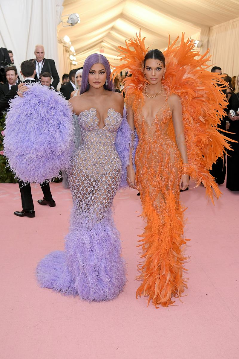 kendall kylie jenner orange purple gown dress Met Gala 2019 Red Carpet Camp Notes on Fashion