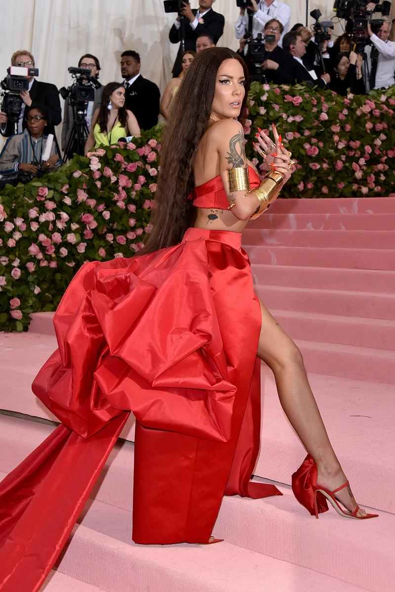Halsey Met Gala 2019 Red Carpet Camp Notes on Fashion red dress