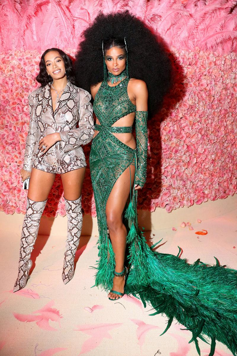Solange Knowles Ciara Met Gala 2019 Red Carpet Camp Notes on Fashion