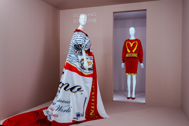 Metropolitan Museum of Art Spring 2019 Camp Notes on Fashion Exhibition Moschino Dresses White Red Yellow