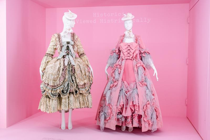 Metropolitan Museum of Art Spring 2019 Camp Notes on Fashion Exhibition Dresses Cream Pink Blue