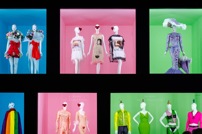 Metropolitan Museum of Art Spring 2019 Camp Notes on Fashion Exhibition Dresses Red Pink White Purple