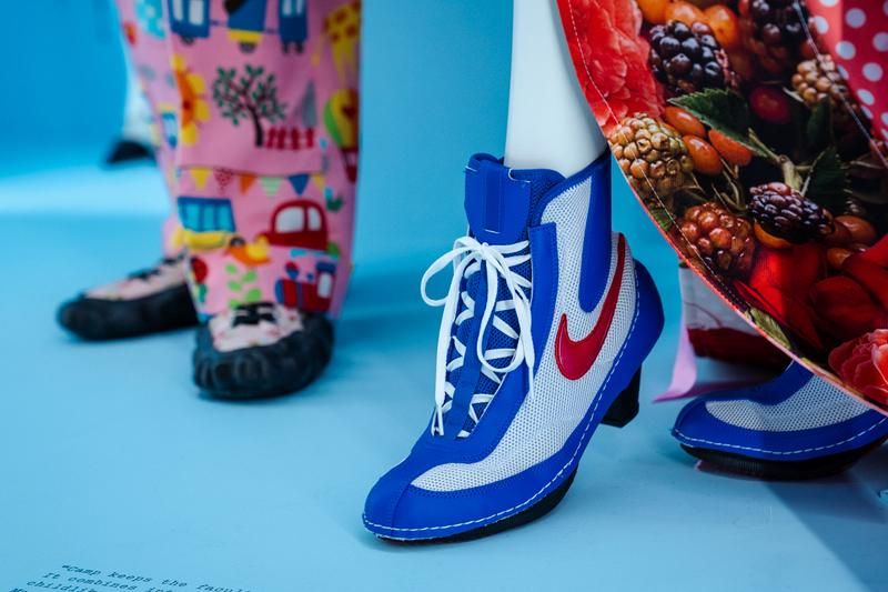 Metropolitan Museum of Art Spring 2019 Camp Notes on Fashion Exhibition Nike Sneaker Blue White Red