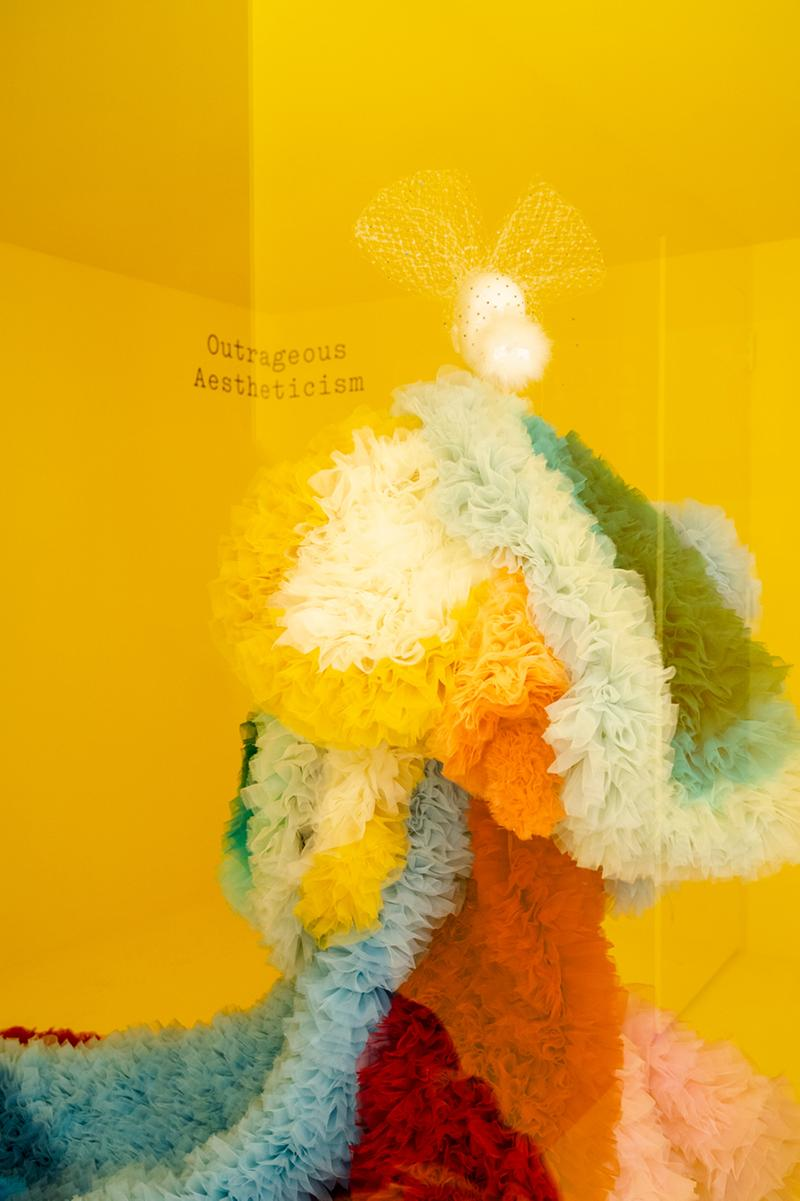 Metropolitan Museum of Art Spring 2019 Camp Notes on Fashion Exhibition Dress Yellow Orange Blue