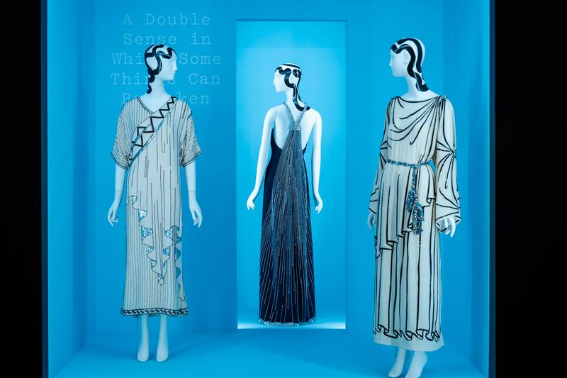 Metropolitan Museum of Art Spring 2019 Camp Notes on Fashion Exhibition Dresses Cream Blue