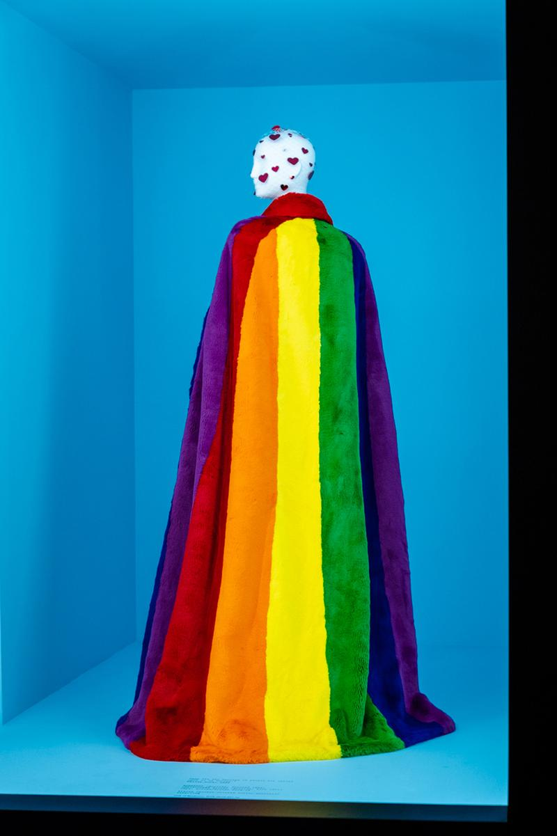 Metropolitan Museum of Art Spring 2019 Camp Notes on Fashion Exhibition Rainbow Coat Red Yellow Orange