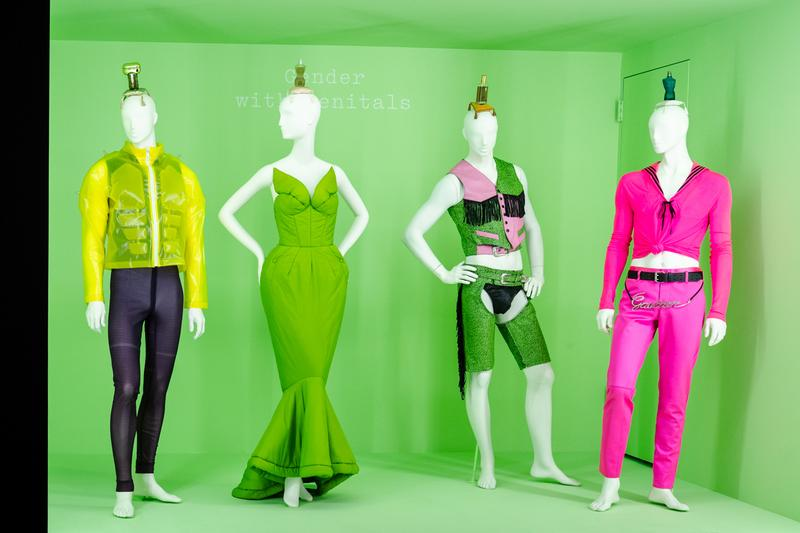 Metropolitan Museum of Art Spring 2019 Camp Notes on Fashion Exhibition Jacket Yellow Dress Green Suit Pink