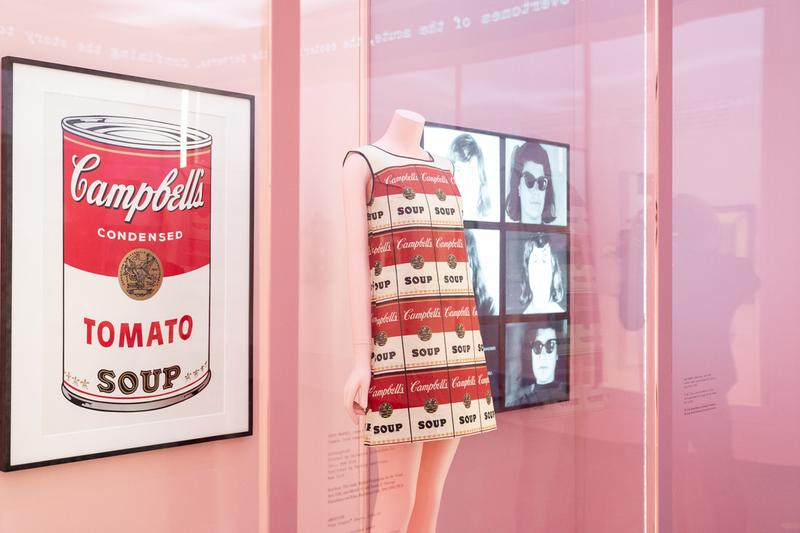 Metropolitan Museum of Art Spring 2019 Camp Notes on Fashion Exhibition Andy Warhol Soup Print Dress White Red