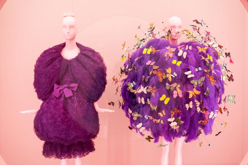 Metropolitan Museum of Art Spring 2019 Camp Notes on Fashion Exhibition Dresses Purple