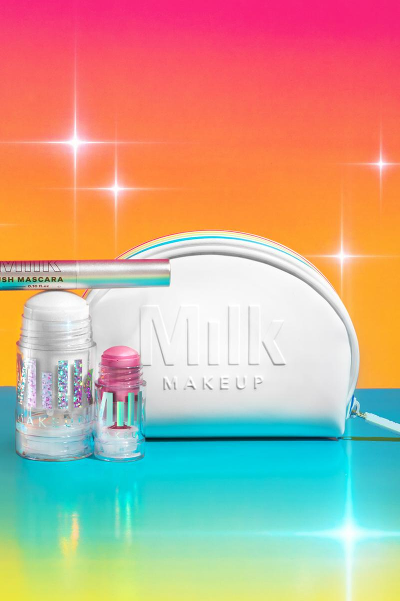 Milk Makeup Glitter Mini Holographic Stick Kush Mascara Bag White
