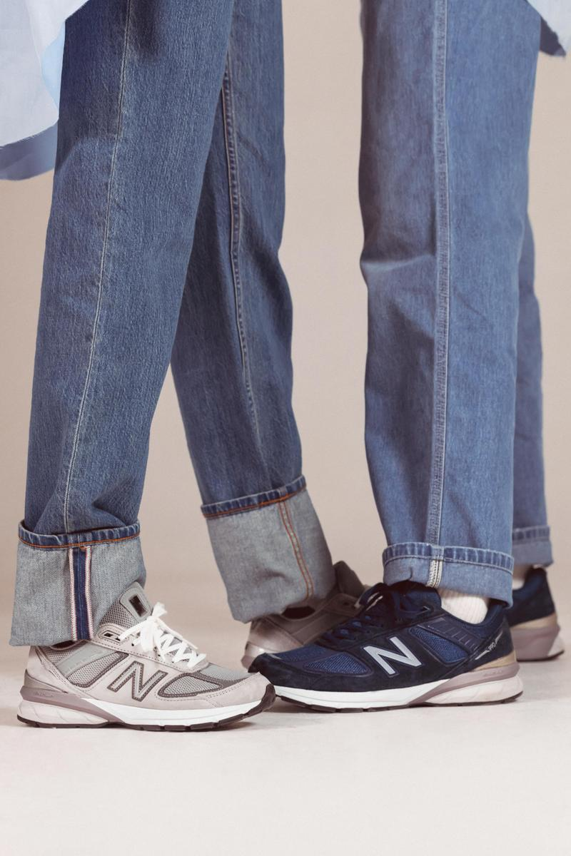 new balance 990v5 dad sneaker styling editorial jeans