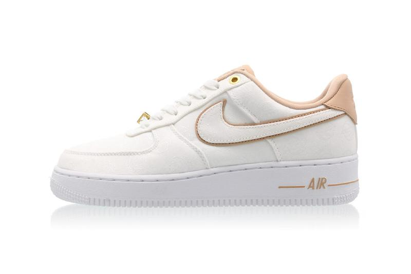 new concept 2d4cb 10711 Nike Air Force 1  07 LX in White Bio Beige Gold Hidden Basketball Womens  Sneakers