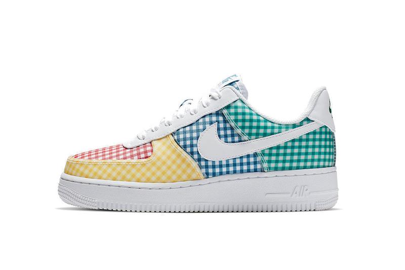 Nike Air Force 1 Gingham Pack Summer Release Color Beige Sneaker Shoe