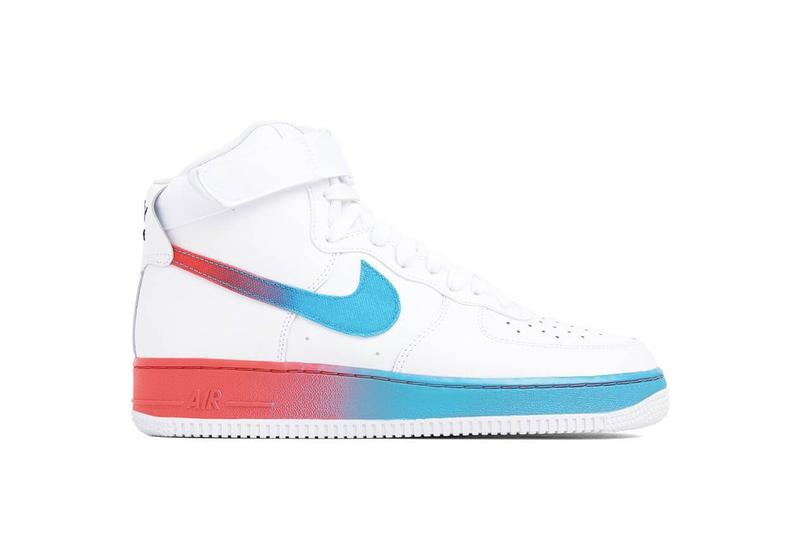 Nike Air Force 1 Gradient Swoosh Release Pink White Purple Black Yellow Air Force 1 Hi