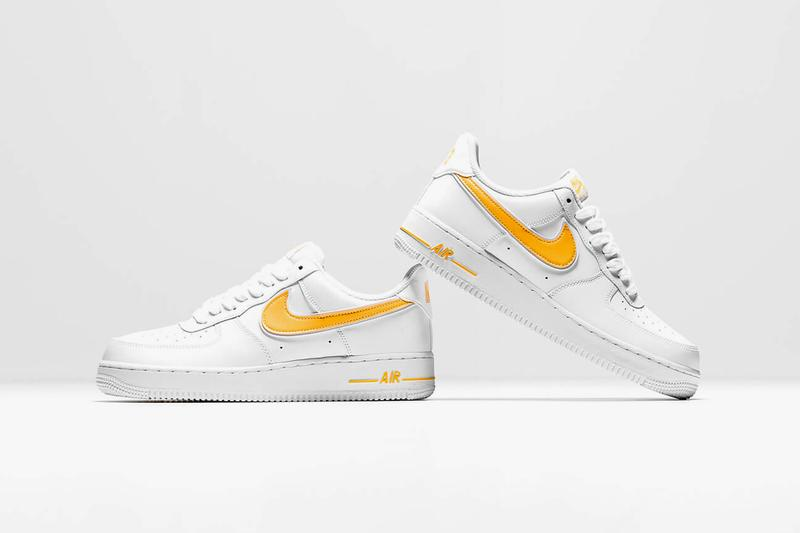 Nike Air Force White University Gold Yellow Sneakers Sneaker Footwear Summer Trainers