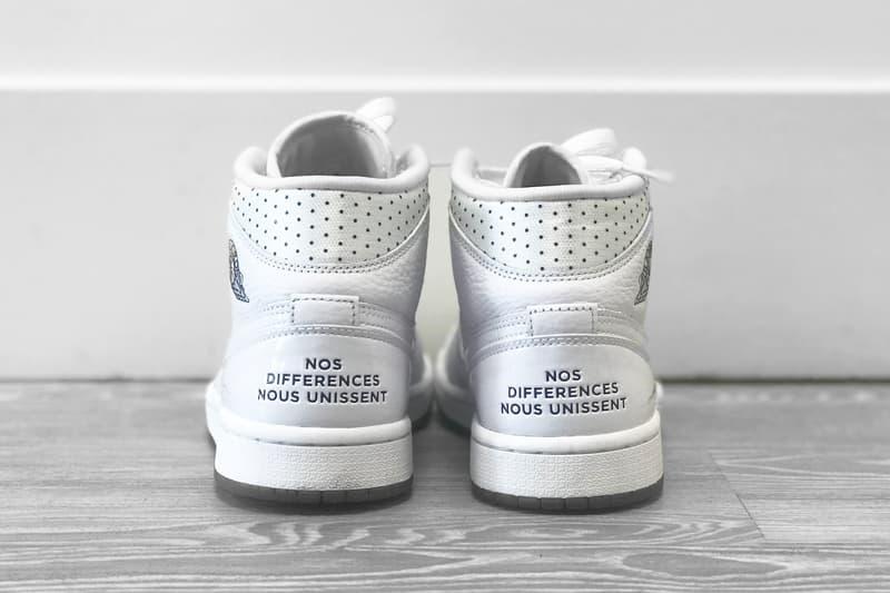 "Nike Air Jordan 1 Mid ""Unité Totale"" Review White Sneaker Shoe Summer AJ1 Basketball Logo"