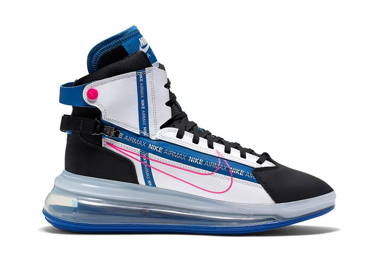 nike air max 720 saturn sneaker boot blue white neon pink