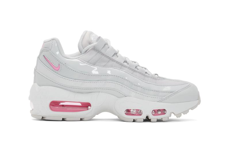 Nike Air Max 95 Vast Grey Psychic Pink Patent Matte Sneakers Trainers