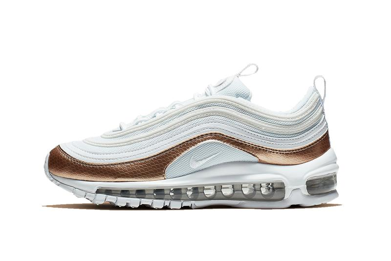 Nike Air Max 97 White Bronze Sneaker Texture Release Summer Shoe Trainer Swoosh