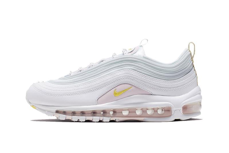 online retailer 2253c aaf1a Nike Air Max 97 Pastel Pink White Yellow Summer Release Sneaker Shoe Drop