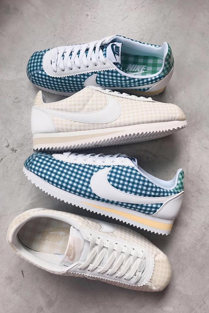Nike Cortez Gingham Sneaker Print Release Blue Green Yellow Red