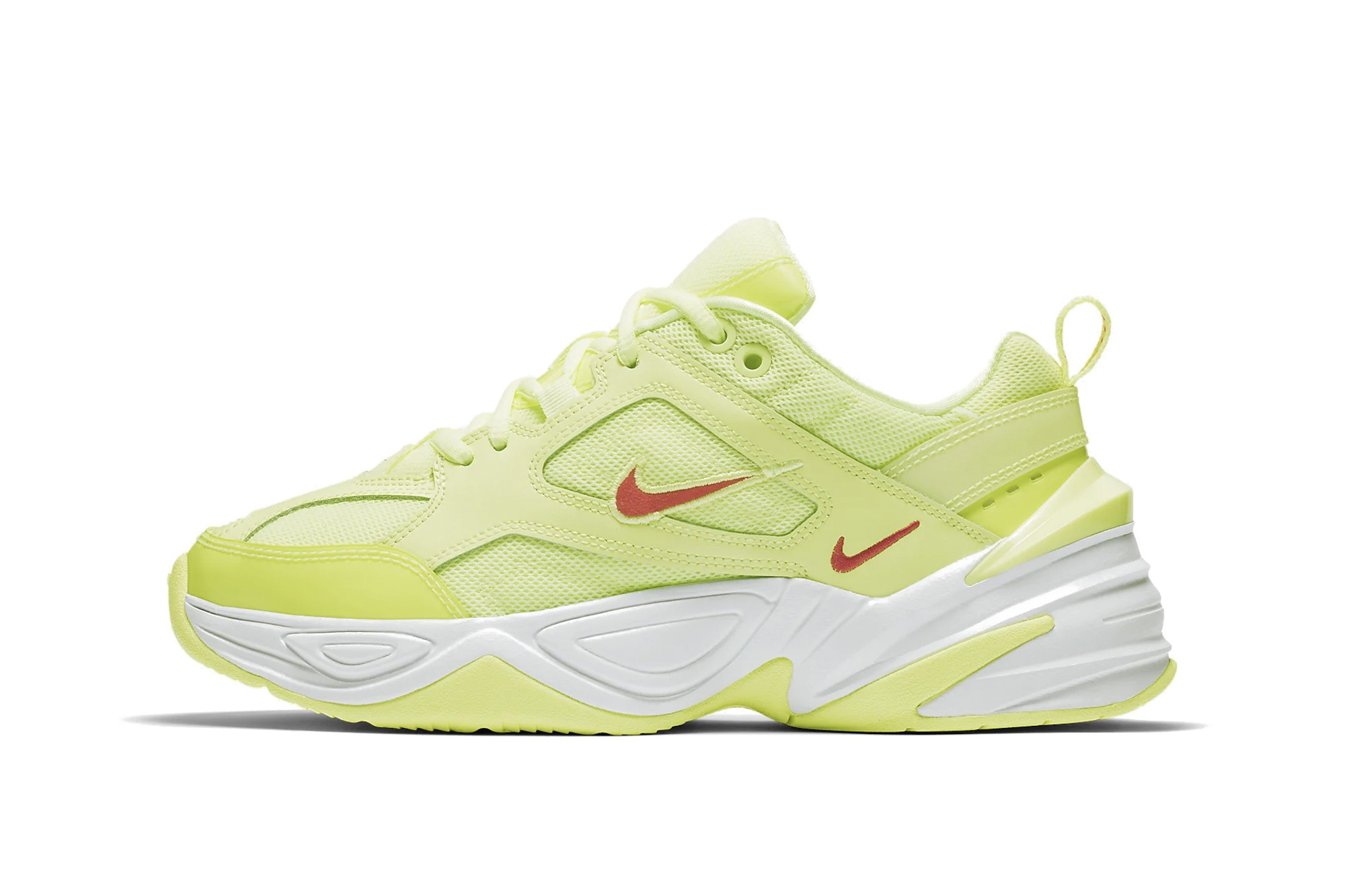Nike M2K Tekno Neon Green Red Orange Yellow Drop | HYPEBAE