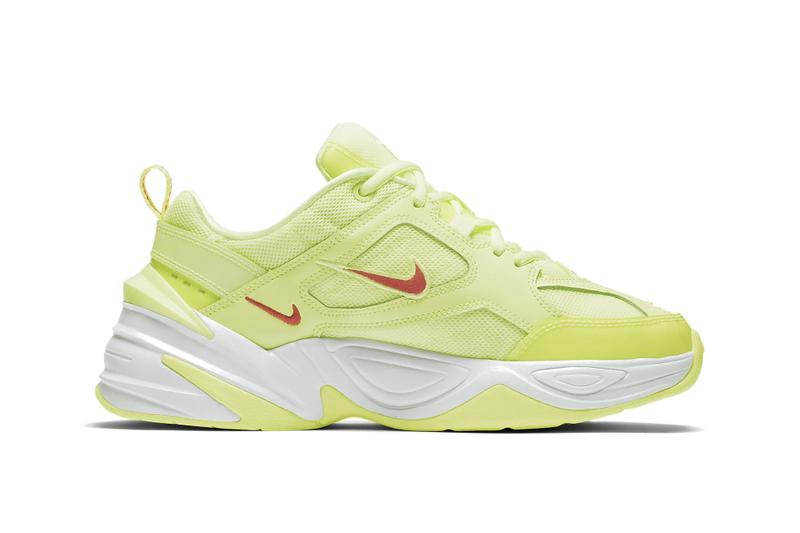 Nike M2K Tekno Neon Green Red Orange Yellow Drop Release Sneaker Shoe Vibrant Trend Dad Sneaker Chunky Shoe