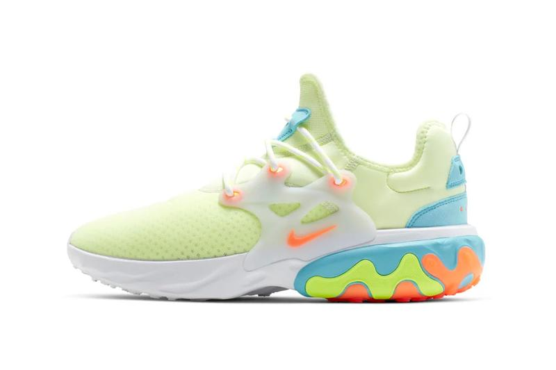 Nike React Presto Psychedelic Lava Green Orange